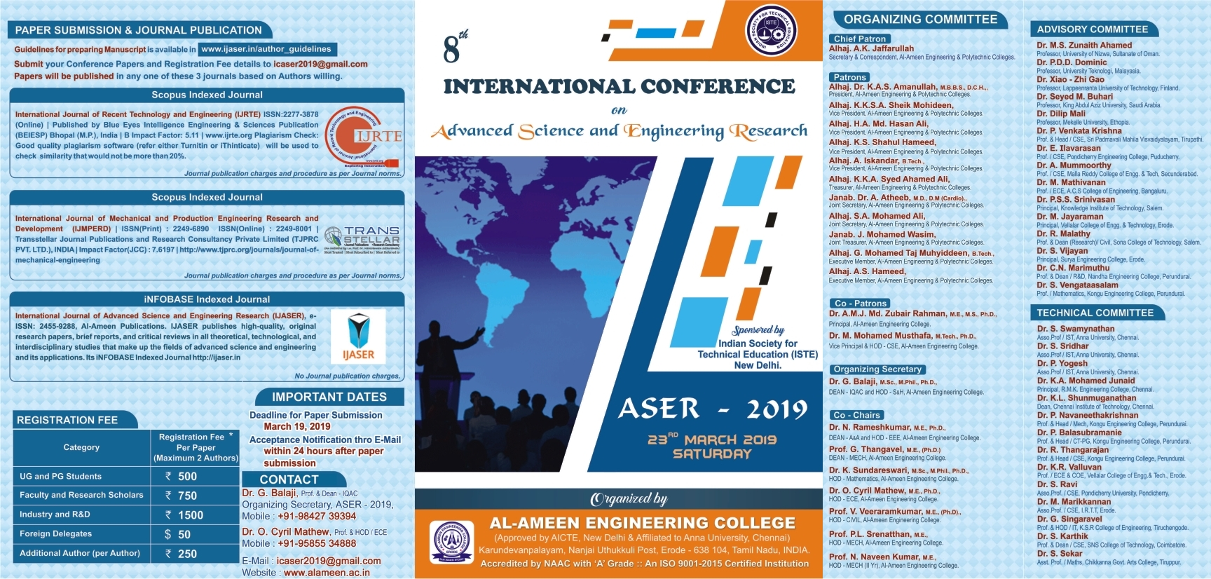 8th INTERNATIONAL CONFERENCE(ASER-2019)
